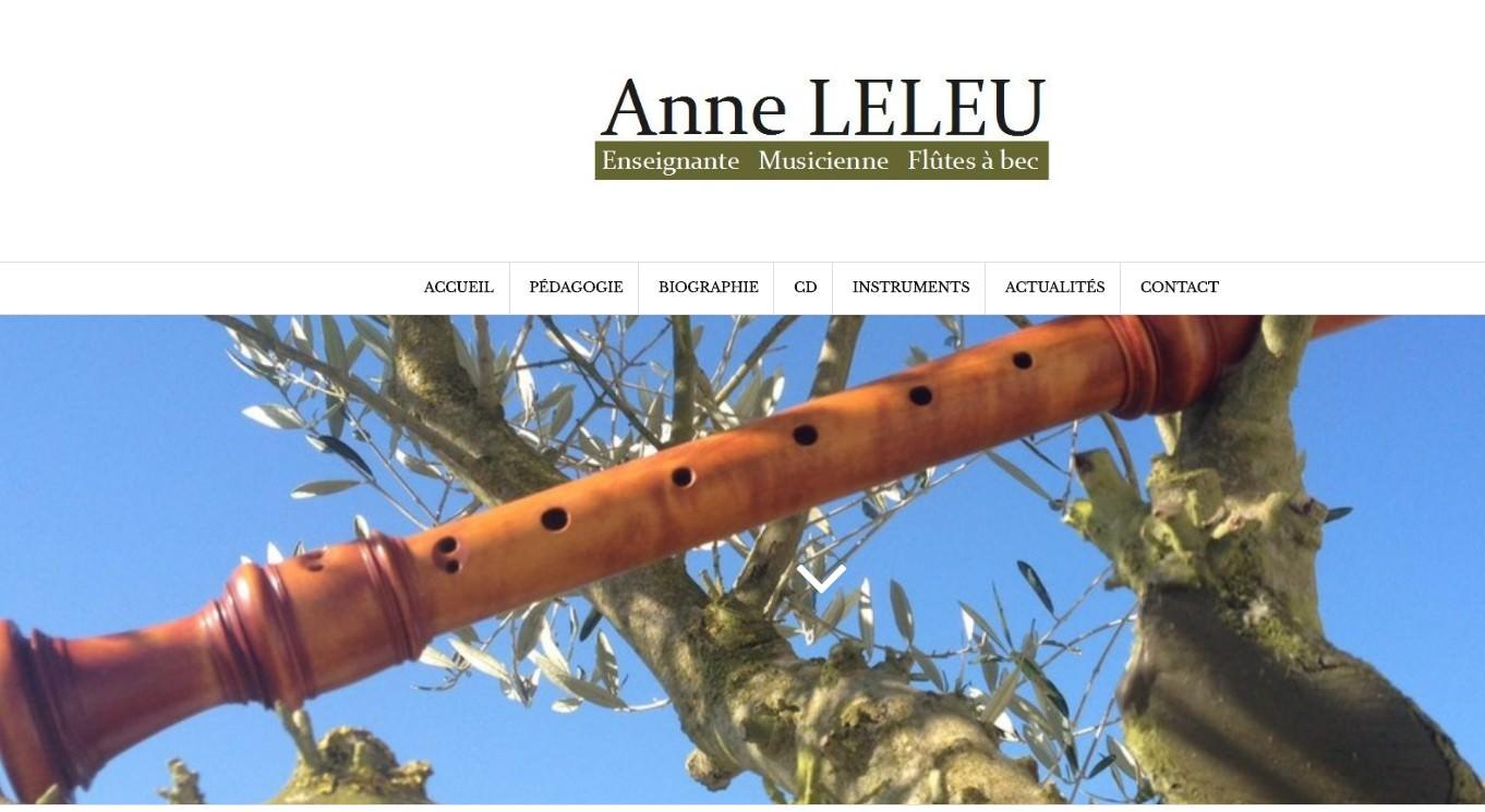Anne LELEU Enseignante et musicienne de flûtes à bec