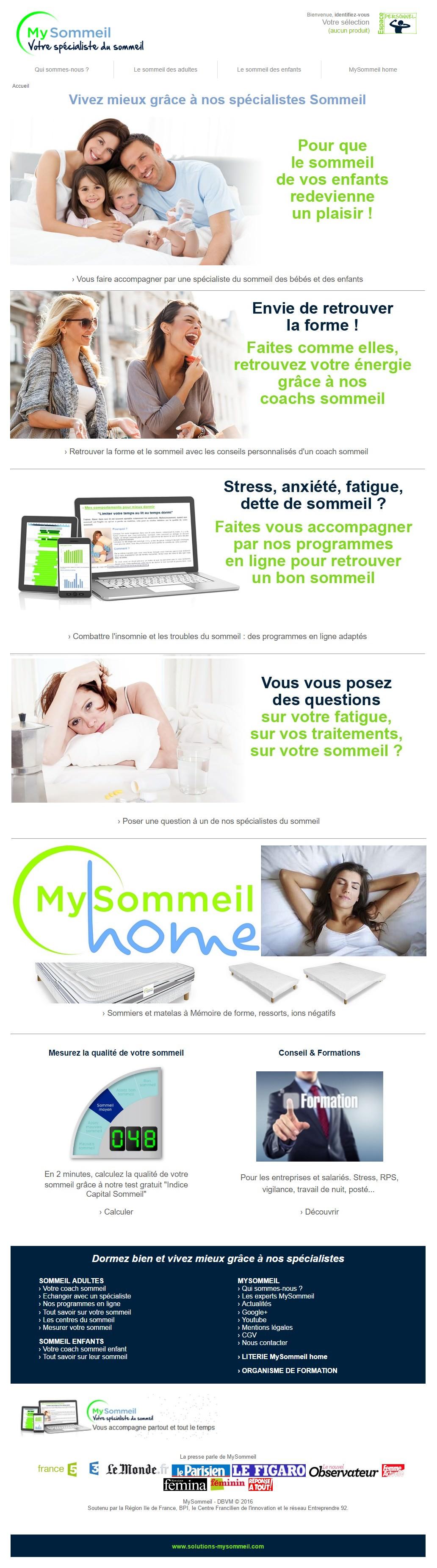 Site des Solutions Mysommeil
