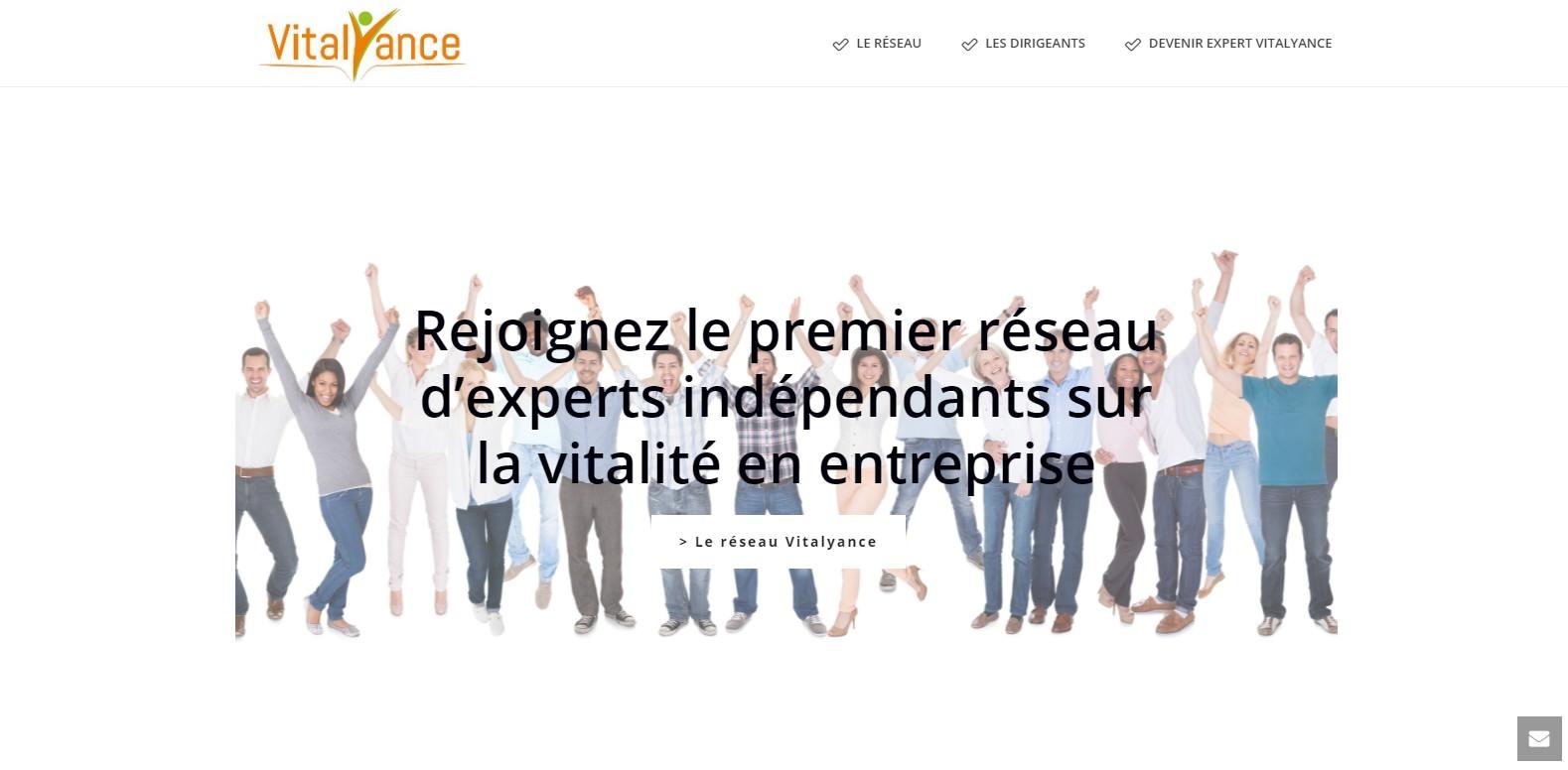 Site VITALYANCE : Réseau d'experts pour la vitalité en entreprise